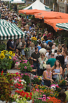 Columbia Road Flower Market Hackney East End London UK.