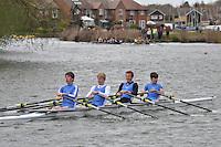 Abingdon Rowing Club Spring Head 2012. 2,000m upstream from Culham cut to Abingdon. Sunday 15 April 2012.