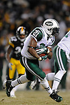 PITTSBURGH, PA - JANUARY 23: LaDainian Tomlinson #21 of the New York Jets rushes against the Pittsburgh Steelers in the AFC Championship Playoff Game at Heinz Field on January 23, 2011 in Pittsburgh, Pennsylvania(Photo by: Rob Tringali) *** Local Caption *** LaDainian Tomlinson