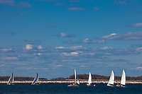 sailboats on the bay in Sag Harbor, NY
