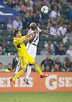 CARSON, CA - July 4, 2013: LA Galaxy forward Gyasi Zardes (29) during the LA Galaxy vs Columbus Crew match at the StubHub Center in Carson, California. Final score, LA Galaxy 2, Columbus Crew 1.