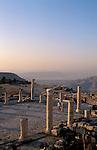 Jordan, Umm Qays overlooking the Sea of Galilee, the ruins of the Acropolis&amp;#xA;<br />