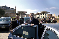 Roma 13 Marzo 2006.Il  rabbino capo di Roma, Riccardo Di Segni  in visita alla Moschea di Roma.Rome March 13, 2006.The chief rabbi of Rome, Riccardo Di Segni visited the Mosque of Rome