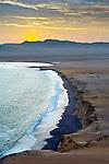 Peru, Paracas National Reserve, Lagunillas Bay, Sunset, Pacific Ocean, SubTropical Coastal Desert, Ica, Ica Region