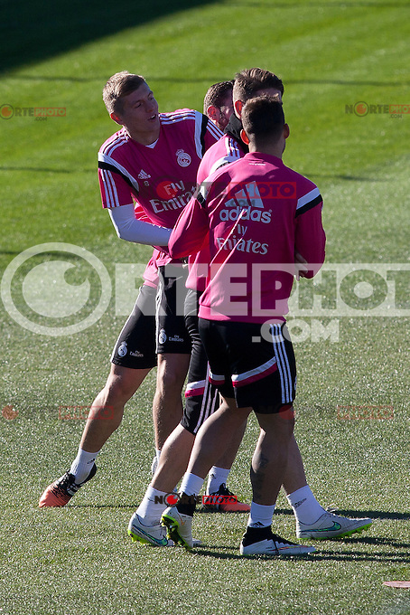 Toni Kroos during a sesion training at Real Madrid City in Madrid. January 23, 2015. (ALTERPHOTOS/Caro Marin) /NortePhoto<br />