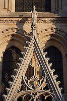 Portal of the echevins, Church of Notre Dame, 12th - 14th century, Mantes-la-Jolie, Yvelines, France Picture by Manuel Cohen