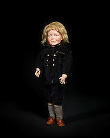 BNPS.co.uk (01202 558833)<br /> Pic: Bonhams/BNPS<br /> <br /> ***Please Use Full Byline***<br /> <br /> Extremely rare Kammer &amp; Reinhardt 104 Bisque head charcter doll. <br /> &pound;30,000 - 50,000. <br /> <br /> A creepy collection of almost 100 'lifelike' dolls modelled on children has emerged for sale with a whopping half a million pounds price tag. <br /> <br /> The eerie-looking toys were made in Germany in the early 20th century as dollmakers strived to produce dolls with realistic human features.<br /> <br /> The collection of 92 dolls, which includes some of the rarest ever made, has been pieced together by a European enthusiast over the past 30 years.<br /> <br /> It is expected to fetch upwards of &pound;500,000 when it goes under the hammer at London auction house Bonhams tomorrow (Weds).