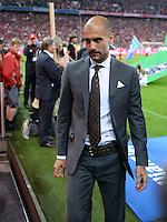 Fussball  1. Bundesliga  Saison 2013/2014   1. SPIELTAG FC Bayern Muenchen - Borussia Moenchengladbach       09.08.2013 Trainer Pep Guardiola (FC Bayern Muenchen) auf den Weg in die Kabine