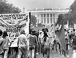 Vietnam anti war demonstration White House Washington D.C., Vietnam anti war demonstration White House Washington D.C., Anti war demonstration moving toward the White House, Opposition to the U.S. Involvement in the Vietnam War is significant because it was the first time a war was shown and accessed through to the public on television, Protests gained momentum from the Civil RIghts Movements that had organized to oppose segregation laws, Fine Art Photography by Ron Bennett, Fine Art, Fine Art photography, Art Photography, Copyright RonBennettPhotography.com ©