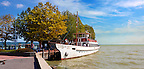 Old style traditional passanger ferry,  ketcsmet,  lake Balaton, Hungary