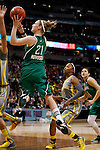 03 APR 2012:  Natalie Novosel (21) of the University of Notre Dame shoots over Brittney Griner (42) and Destiny Williams (10) of Baylor University during the Division I Women's Basketball Championship held at the Pepsi Center in Denver, CO.  Jamie Schwaberow/NCAA Photos