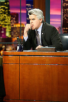 May 23, 2003:  Host of the Tonight Show Jay Leno at his famous desk on set of NBC studios in Burbank, CA.