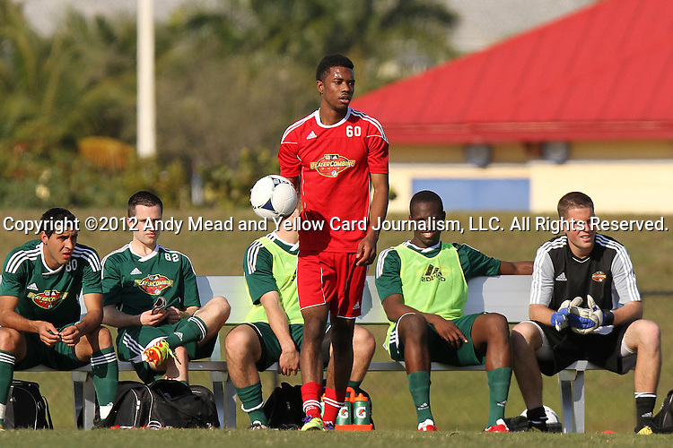 06 January 2012: Jason Banton (ENG). The 2012 MLS Player Combine was held on the cricket oval at Central Broward Regional Park in Lauderhill, Florida.