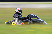 Daniel Sayles, 75, races in the Rotax Heavy class during the 2012 Superkart National Champs and Grand Prix at Manfeild in Feilding, New Zealand on Saturday, 7 January 2011. Credit: Hagen Hopkins.