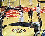 "Ole Miss' Murphy Holloway (31) shoots a free throw vs. Miami at the C.M. ""Tad"" Smith Coliseum in Oxford, Miss. on Friday, November 25, 2011. Ole Miss won 64-61 in overtime."