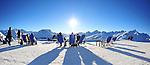 Sunbathers in St. Moritz, Switzerland