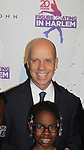 Skater poses with Scott Hamilton who is honored tonight - Figure Skating in Harlem celebrates 20 years - Champions in Life benefit Gala on May 2, 2017 in New York Ciry, New York.   (Photo by Sue Coflin/Max Photos)