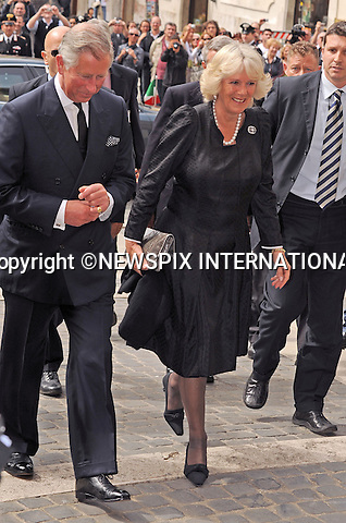 """PRINCE CHARLES and CAMILLA_Duchess of Cornwall.Visit the Chamber of Deputies on the first day of thier Royal visit to Italy_Rome_27/04/2009.Mandatory Photo Credit: ©Dias/Newspix International..**ALL FEES PAYABLE TO: """"NEWSPIX INTERNATIONAL""""**..PHOTO CREDIT MANDATORY!!: NEWSPIX INTERNATIONAL(Failure to credit will incur a surcharge of 100% of reproduction fees)..IMMEDIATE CONFIRMATION OF USAGE REQUIRED:.Newspix International, 31 Chinnery Hill, Bishop's Stortford, ENGLAND CM23 3PS.Tel:+441279 324672  ; Fax: +441279656877.Mobile:  0777568 1153.e-mail: info@newspixinternational.co.uk"""