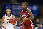 22 March 2014: Oklahoma's Sharane Campbell. The DePaul University Blue Demon played the University of Oklahoma Sooners in an NCAA Division I Women's Basketball Tournament First Round game at Cameron Indoor Stadium in Durham, North Carolina. DePaul won the game 104-100.