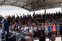 L'AQUILA (AQ) 21/06/2012 - 238° ANNIVERSARIO DELLA SCUOLA GUARDIA DI FINAZA A L'AQUILA, PRESENTI ALLA FESTA IL PRESIDENTE DELLO STATO GIORGIO NAPOLITANO E IL PREMIER MARIO MONTI. NELLA FOTO L'ARRIVO DEL PRESIDENTE DELLA REPUBBLICA GIORGIO NAPOLITANO. FOTO DI LORETO ADAMO