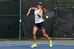 20 April 2016: Notre Dame's Mary Closs. The University of Notre Dame Fighting Irish played the University of Pittsburgh Panthers at the Cary Tennis Center in Cary, North Carolina in the first round of the Atlantic Coast Conference Women's Tennis Tournament. Notre Dame won the match 4-3.