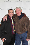 Actor Charles Geyer attended 30th anniversary and poses with David Butler who was on Days of our Lives and One Life to Live. Charles played all the parts in past. Perfect Crime - 30th Anniversary off-Broadway with CathThe 30th anniversary was on April 18, 2017 at Bernstein Theatre, New York City, New York. (Photo by Sue Coflin/Max Photos)