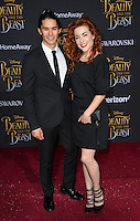 Booboo Stewart &amp; Megan Trainer at the premiere for Disney's &quot;Beauty and the Beast&quot; at El Capitan Theatre, Hollywood. Los Angeles, USA 02 March  2017<br /> Picture: Paul Smith/Featureflash/SilverHub 0208 004 5359 sales@silverhubmedia.com