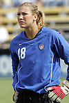 23 October 2005: US Women's National Team goalkeeper Hope Solo, pregame. The United States Women's National Team defeated Mexico 3-0 at Blackbaud Stadium in Charleston, South Carolina in an International Friendly soccer match.