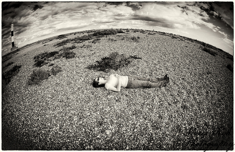 Self-portrait at Dungeness