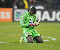 D.C. United goalkeeper Bill Hamid at the end of the game. D.C. United tied The Houston Dynamo 1-1 but lost in the overall score 4-2 in the second leg of the Eastern Conference Championship at RFK Stadium, Sunday November 18, 2012.