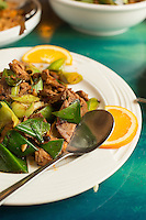 The Double Sauteed Pork and Leeks in Szechuan Sauce at Dim Sum House in Morrisville, N.C. on Saturday, March 29, 2014. (Justin Cook)