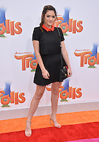 LOS ANGELES, CA. October 23, 2016: Actress Luna Blaise at the Los Angeles premiere of &quot;Trolls&quot; at the Regency Village Theatre, Westwood.<br /> Picture: Paul Smith/Featureflash/SilverHub 0208 004 5359/ 07711 972644 Editors@silverhubmedia.com