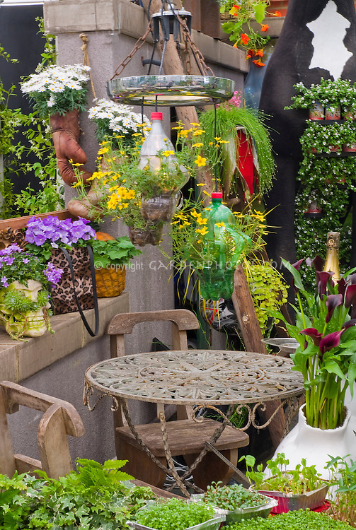 Container Garden Using Recycling Materials Plant