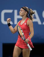 ALEKSANDRA KRUBIC (SRB)<br /> The US Open Tennis Championships 2014 - USTA Billie Jean King National Tennis Centre -  Flushing - New York - USA -   ATP - ITF -WTA  2014  - Grand Slam - USA <br /> 1st September  2014. <br /> <br /> &copy; AMN IMAGES