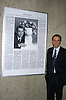 Jeff Koons and his Obituary..at The Opening of The Whitney Museum of American Art's Biennial 2006 titled Day for Night on February 28, 2006.  Robin Platzer, Twin Images