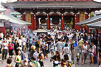 Sensoji temple, Asakusa, Tokyo, Japan, August 28, 2011. Sensoji is one of the oldest temples in Tokyo, and the shopping arcades around it have sold visitors souvenirs for centuries.