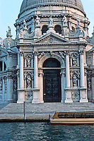 Venice:  Grand Canl in evening light.  Santa Maria Della Salute--elevation.  Photo '83.
