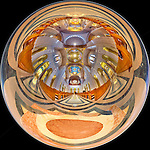 360-degree high dynamic range &quot;little planet&quot; panorama of the awesome interior of the Basilica of the National Shrine of the Immaculate Conception in Washington, DC.  Built on land donated by the Catholic University of America, the Basilica of the National Shrine of the Immaculate Conception is North America's largest Roman Catholic church and 10th largest church in the world.