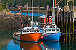 Two Fishing boats tied up at the wharf at Head Harbor, Campobello, New Brunswick, Canada