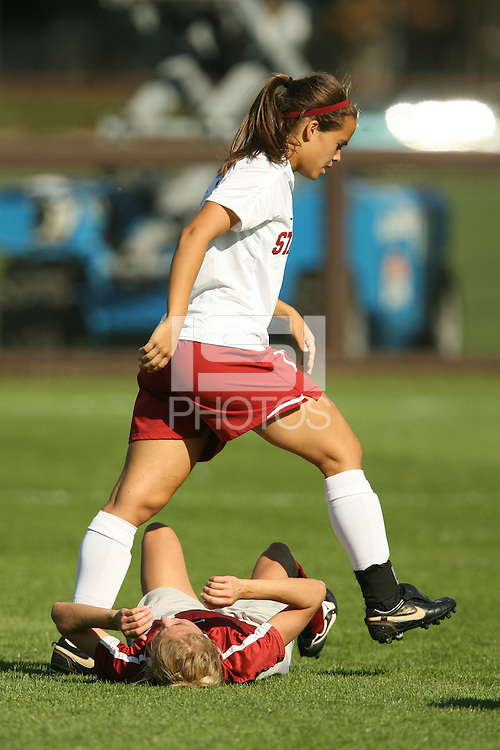 4 November 2007: Kristin Stannard during Stanford's 2-1 overtime win over Washington State at Laird Q. Cagan Stadium in Stanford, CA.