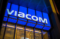 Viacom headquarters in Times Square in New York on Tuesday, September 27, 2016. Viacom owns MTV, Nickelodeon, Comedy Central and Paramount.  (© Richard B. Levine)