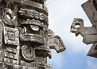 Chaac, the god of rain, The Monastery, Puuc architecture, 750-900 AD, Chichen Itza, Yucatan, Mexico. Picture by Manuel Cohen