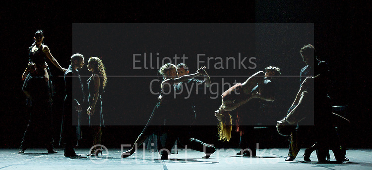 Milonga<br /> Sidi Larbi Cherkaoui<br /> at Sadler's Wells, London, Great Britain <br /> rehearsal <br /> 5th November 2013 <br /> <br /> Sebastian Acosta<br /> Cristian Cisneros<br /> Martin Epherra<br /> Claudio Gonzales<br /> Nicolas Schell<br /> Melina Bruffman<br /> Esther Garabali<br /> Marciel Giacomini<br /> Nair Schinca<br /> Valentina Villarroel<br /> Silvina Cortes<br /> Damien Fournier<br /> <br /> <br /> Photograph by Elliott Franks