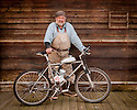 Jeff, electric bicycle builder, at Deer Harbor, Orcas Island, Washington.
