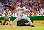 11 April 2006: Ramon Ortiz, pitcher for the Washington Nationals, on the mound during the Nationals' Home Opener against the New York Mets in Washington, DC. The Mets defeated the Nationals 7-1 to start the 2006 season at RFK Stadium...Mandatory Photo Credit: Ed Wolfstein Photo..