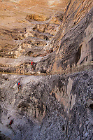 Climbing the Via Ferratta routes on the property of the Amangiri resort, Utah
