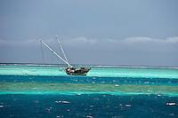 Boat wreck in the North Male Atolls, Maldives (Tuesday, June 16th, 2009). Photo: joliphotos.com
