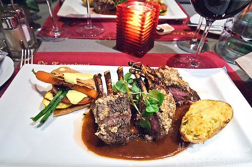 Rack of Lamb at a traditional Belgian restaurant