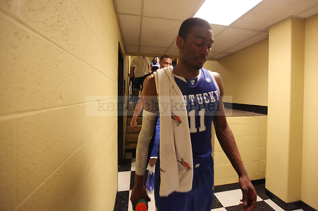 John Wall walks to the locker room at halftime of UK's win over Vandy 58-56 at Memorial Gymnasium in Nashville on Saturday, Feb. 20. 2010. Photo by Britney McIntosh | Staff