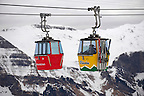 Ski lift from Grindelwald to Mannlichen - Swiss Alps - Switzerland